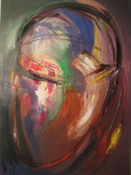 Kopf-Raum, 2014, Öl auf Leinwand 100x70 cm
